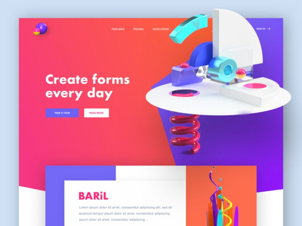3D web create forms