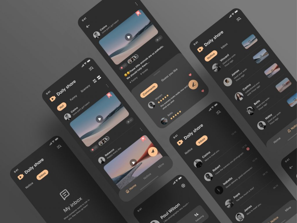Dark mode web daily share-smart