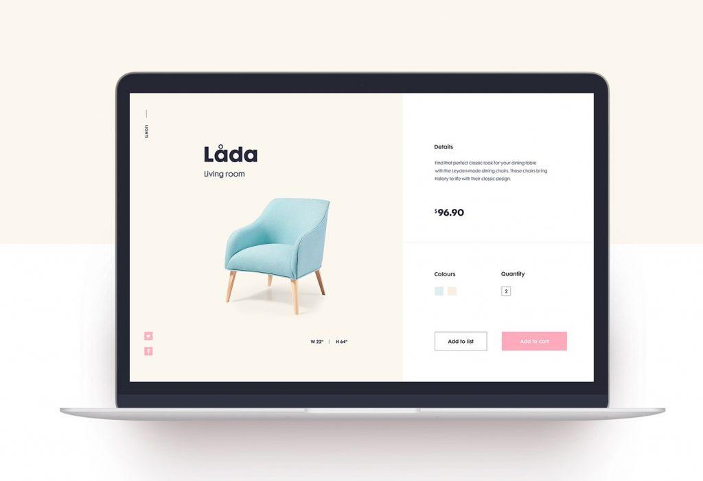 Minimalismo web Lada Living