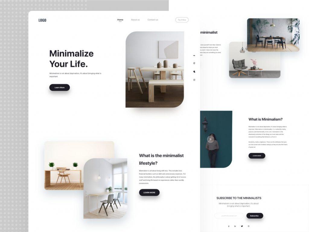 Minimalismo Web Minimalize your life