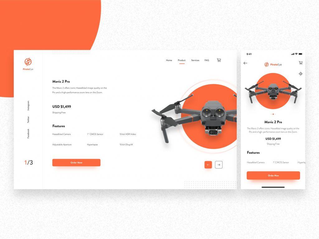 Responsive web drone